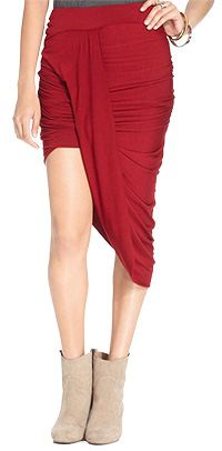 Free People Skirt, Ruched Asymmetrical